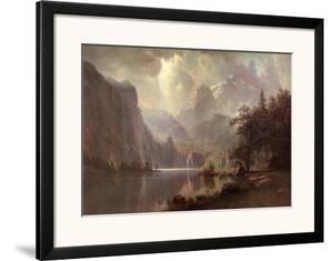 In the Mountains by Albert Bierstadt