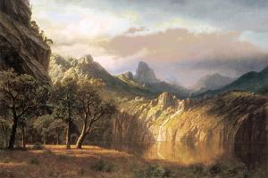 In the Valley by Albert Bierstadt