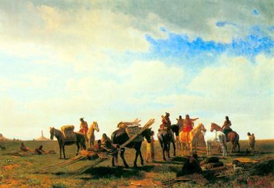 Albert Bierstadt Indians Near Fort Laramie Art Print Poster