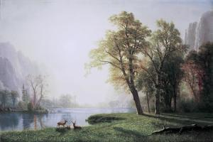 King River Canyon, California by Albert Bierstadt