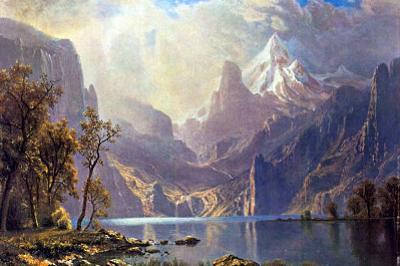 Albert Bierstadt Lake Tahoe Art Print Poster