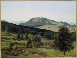 Landscape - Hill and Dale by Albert Bierstadt