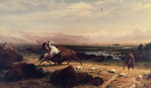 Last of the Buffalo by Albert Bierstadt