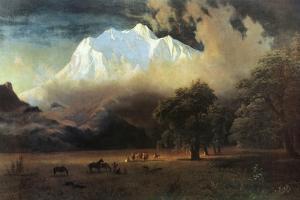 Mount Adams, Washington by Albert Bierstadt