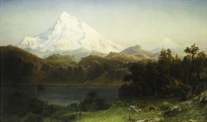 Mount Hood in Oregon by Albert Bierstadt