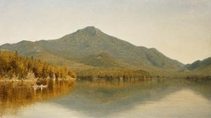 Mount Whiteface from Lake Placid, in the Adirondacks by Albert Bierstadt