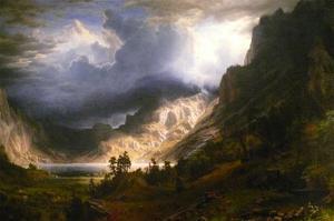 Mt. Rosalie, a Strom in the Mountains by Albert Bierstadt