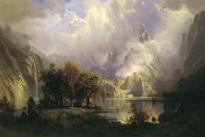 Rocky Mountain Landscape, 1870 by Albert Bierstadt