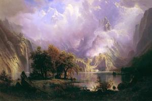 Rocky Mountain Landscape by Albert Bierstadt