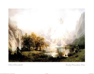 Rocky Mountain View by Albert Bierstadt