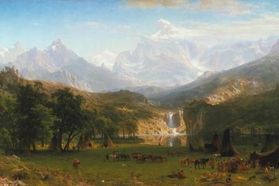 Rocky Mountains, Lander's Peak, 1863
