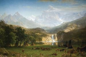 Rocky Mountains, Landers Peak by Albert Bierstadt