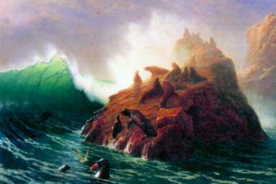 Albert Bierstadt Seal Rock California