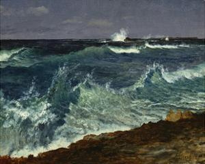 Seascape by Albert Bierstadt