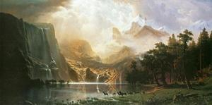 Sierra Nevada in California by Albert Bierstadt