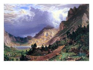 Storm in the Rockies, Mt. Rosalie by Albert Bierstadt