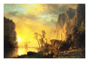 Sunset in the Rockies by Albert Bierstadt