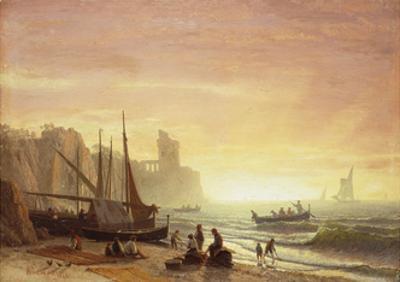 The Fishing Fleet, 1862 by Albert Bierstadt