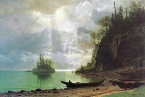 The Island by Albert Bierstadt
