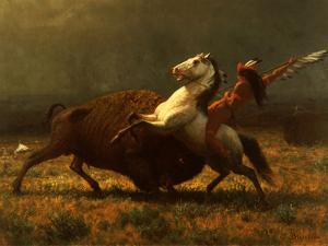The Last of the Buffalo, C.1888 by Albert Bierstadt