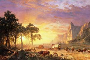 The Oregon Trail, 1869 by Albert Bierstadt