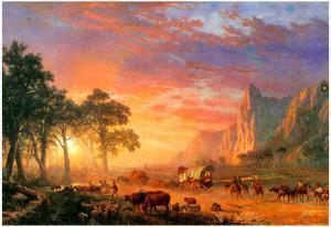 Albert Bierstadt The Oregon Trail Art Print Poster