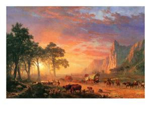 The Oregon Trail by Albert Bierstadt