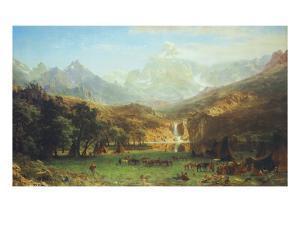 The Rocky Mountains, Lander's Peak by Albert Bierstadt