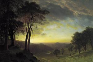 The Sacramento River Valley by Albert Bierstadt