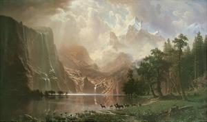 The Sierra Nevada in California by Albert Bierstadt