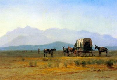 Albert Bierstadt The Stagecoach in the Rockies Art Print Poster
