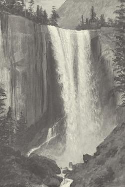 Vernal Falls, 1863 - Vintage by Albert Bierstadt