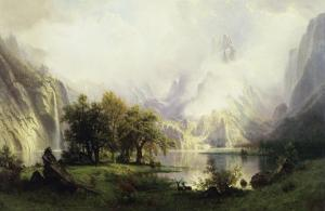 View of Rocky Mountains by Albert Bierstadt