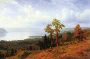 View of The Hudson River Valley by Albert Bierstadt