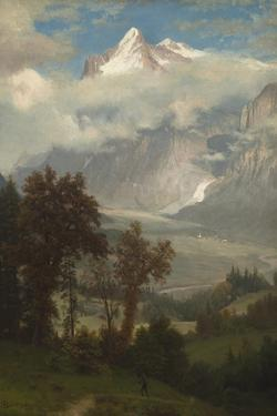 View of the Wetterhorn from the Valley of Grindelwald by Albert Bierstadt