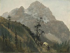 Western Trail, the Rockies by Albert Bierstadt