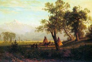 Albert Bierstadt Wind River Mountains in Nebraska Art Print Poster