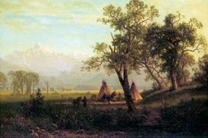 Wind River Mountains in Nebraska by Albert Bierstadt