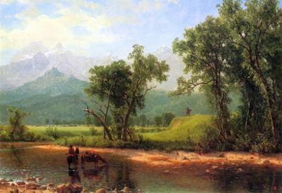 Albert Bierstadt Wind River Mountains Landscape in Wyoming Art Print Poster