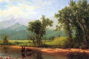 Wind River Mountains, Landscape in Wyoming by Albert Bierstadt