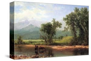Wind River Mountains, Wyoming by Albert Bierstadt