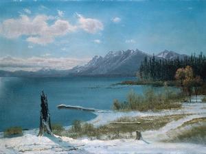 Winterly Lake Tahoe by Albert Bierstadt