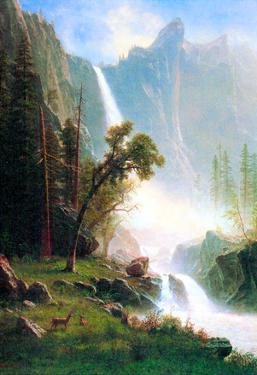 Albert Bierstadt Yosemite Falls Art Print Poster