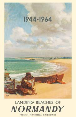 Landing Beaches of Normandy France - French National Railways (SNCF) by Albert Brenet