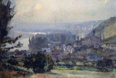 View of Vetheuil, Sunset, 1897