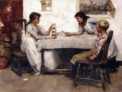 The House of Cards, 1888 by Albert Chevallier Tayler