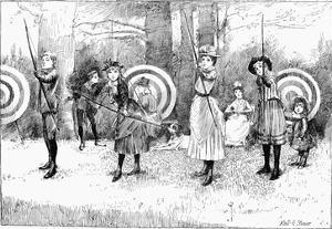 Archery, 1886 by Albert E. Sterner