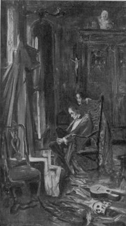 The Fall of the House of Usher Roderick and His Twin Sister Madeline Inside the House