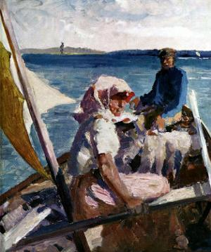 Afternoon Sea Breeze by Albert Edelfelt