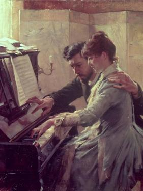 At the Piano by Albert Edelfelt